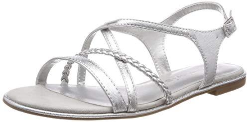 Tamaris Damen 1-1-28129-22 Riemchensandalen, Silber (Silver 941), 41 EU