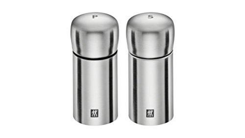 Zwilling 39500-025-0 Salz- und Pfeffermühle, 2-teilig Set, Edelstahl, Silber, 10.7 x 5.5 x 10.7 cm