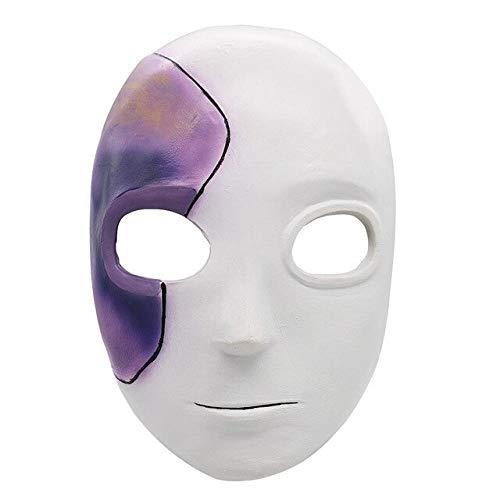 Dodom Spiel Sally Gesichtsmasken Cosplay SallyFace Latex Masken Perücke Kostüm Prop Für Erwachsene Frauen Männer Halloween Party Sallyface Perücken, A (Für Sally Frauen Kostüm)