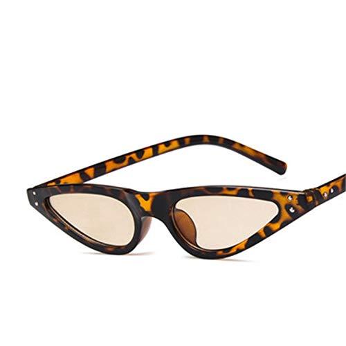 KnSam Polarisierte UV400 Schutz Ultraleicht Rahmen Teardrop Katzenauge Damen Leopardenmuster Sonnenbrillen Fahrerbrille