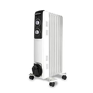 Orbegozo RF 1500 Radiador de aceite, 1500W de potencia, construcción modular de 7 elementos y diseño en color blanco…
