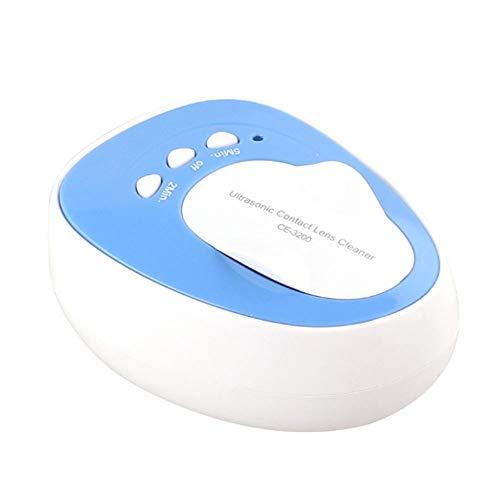 Gyqjs Ultraschall-Kontaktlinsenreiniger, Tragbare Brillenreinigungsmaschine 46KHz-ReinigungsgeräT Machine Daily Care FüR RGP-Spiegel SchöNheit ()