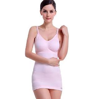 Arshiner Damen Still-Hemdchen Still-BH-Hemd Stillbluse Stilltop mit Verstellbare Spaghetti-Träger Schwarz