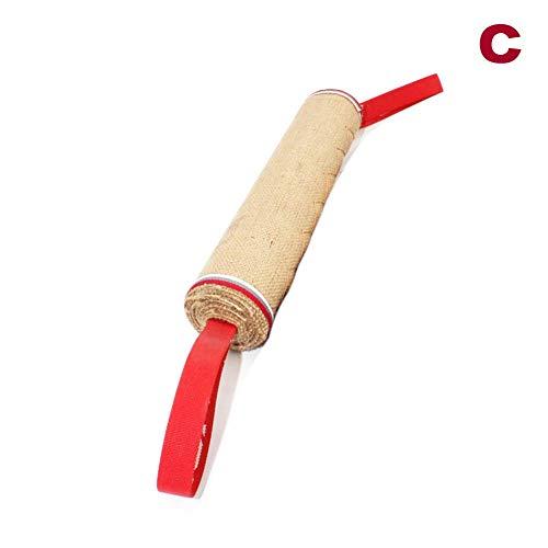 Ohwens 1 Stücke Hund Zerrspielzeug Spielzeug Bite Kissen Stark Ziehen Spielzeug Hundetraining mit 2 Seil Griffe, Hund Zerrspielzeug Spielzeug, Bite Kissen - c -