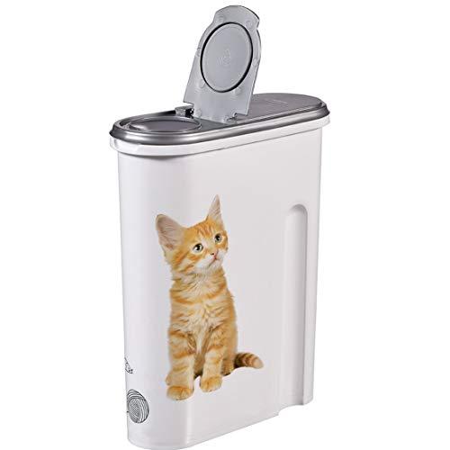 Générique Boite à Croquettes Chat - 4,5 litres - Boite Conteneur Nourriture - Design Chat