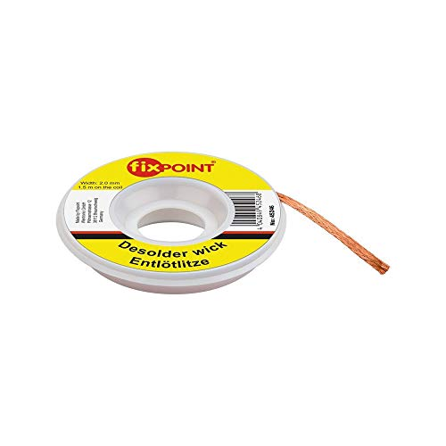 Fixpoint Entlötlitze 2mm zur Entfernung von Lötzinn an Lötstellen 1,5m, 1 Stück, 45246 - Braten Luft
