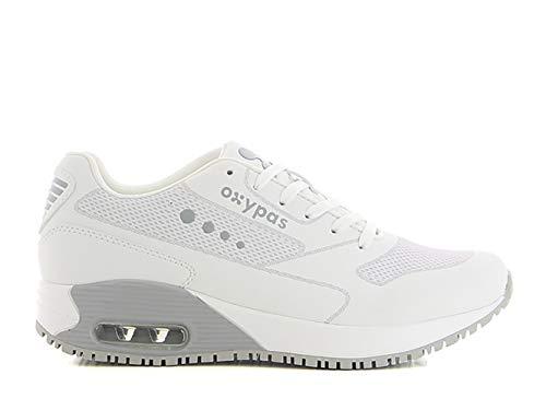 Oxypas ElaS3801lgr Arbeitsschuhe Ela, Sneaker, Schutzklasse SRC,White with Grey,38 EU