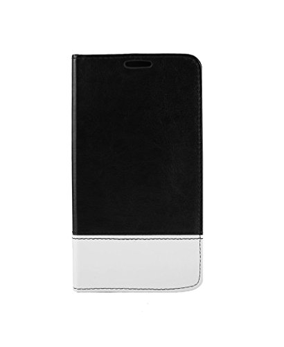 DNG Soft Leather Flip Wallet PU Stand Case Cover for Gionee Elife S5.1 Black
