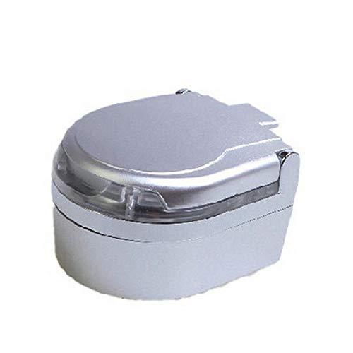 L'Miracle Home LED-Lichtaschenbecher Zigarettenaschenhalter Rauchfreier Autoaschenbecher mit LED-Licht (Blau), Silber