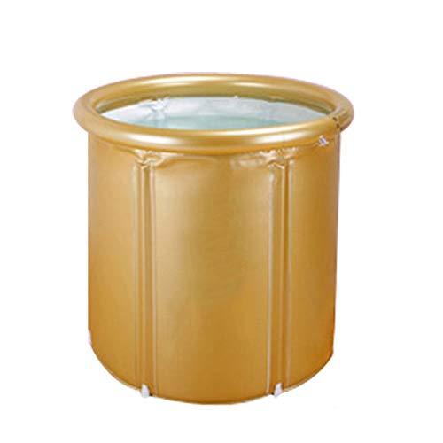 ZA Faltendes Verdickungsbad-Fass, Haushalts-erwachsenes Plastikisolierungs-Bad-Fass, aufblasbare Badewanne-Dusche, die Badekurort-Badewanne tränkt (Farbe : D, Size : S)