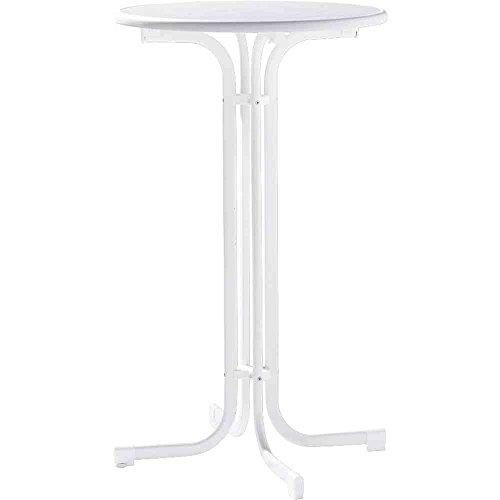 Sieger 137/W Table de Brasserie Haut Acier Blanc 70 x 70 x 112 cm