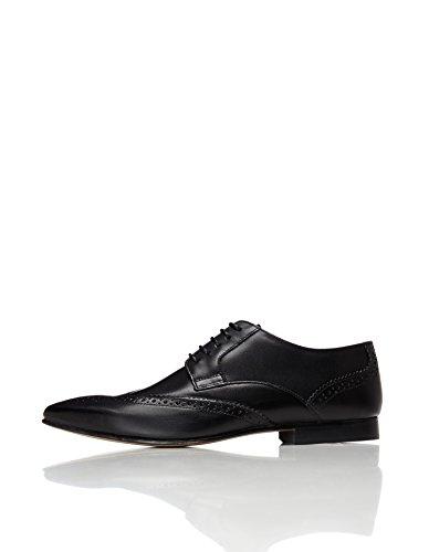 Find. Zapato Blucher Piel Calados Hombre, Negro Black