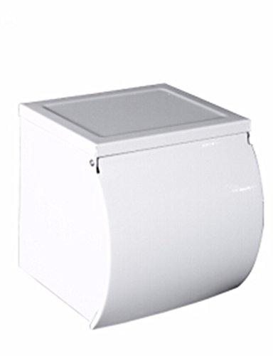 QMPZG-Toilettenpapier Halter Europäischen Stil Mit Weißer Farbe 304 Edelstählen Beigefügte Papier Handtuchhalter Toilettenpapier Rack Rollen Papier Rack Toilettenpapier Rack Kleinen Karton (Toilettenpapier-halter Weiß)