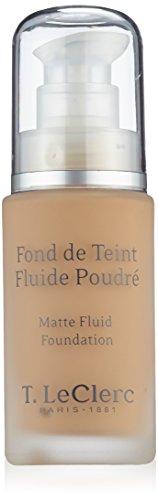 T.Leclerc Fond de Teint Fluide Poudré SPF 15 30 ml - Teinte : 04 : Beige Abricoté Mat