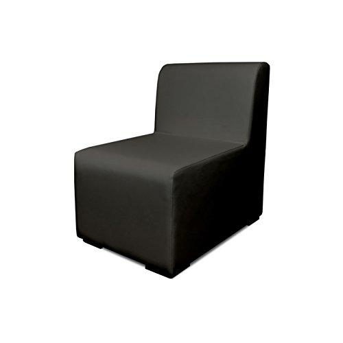 SuenosZzz- Sofa Exterior Modular Benahavis 1 Plaza Color Ceniza tapizado en Polipiel Silva. Chill out Jardin o recepcion.