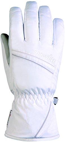 Snowlife Skihandschuhe Snowboardhandschuhe Damen - wasserabweisend und atmungsaktiv - warm und bequem - ideal für Wintersport - Scratch Glove, weiß, XL (Feuchtigkeit Leitet Ab Innenfutter)