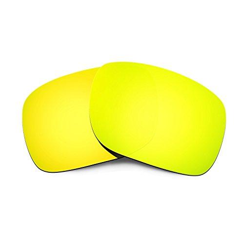 HKUCO Mens Replacement Lenses For Oakley Holbrook Sunglasses 24K Gold Polarized