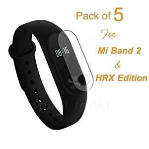 Epaal Screen Protector for Mi Band 2 and Mi Band HRX Edition (Transparent) – Pack of 5
