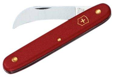 Victorinox Taschenwerkzeug Gartenmesser gebogene Klinge 51 mm rot, 3.9060