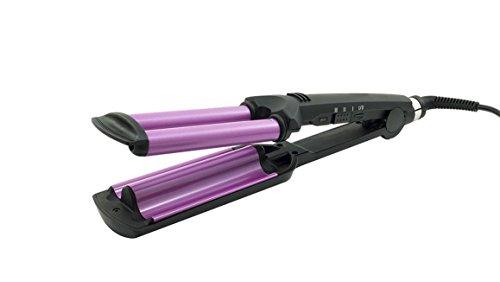 Plaque Coquilleur à cheveux à 3 branches effet bouclés Onduleur professionnel 200 °C
