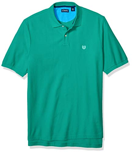 Chaps Herren Big and Tall Classic Fit Cotton Mesh Polo Shirt Poloshirt, Spring Emerald, XXX-Large Hoch -