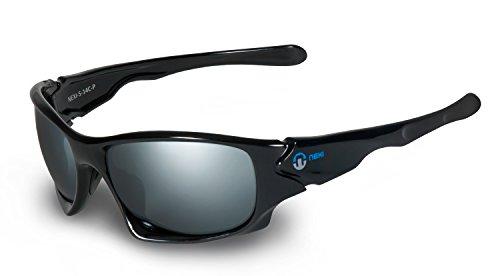 Nexi Sportbrille Sonnenbrille - mit Polarisation - ideal zum Autofahren - S14-C-P, schwarz