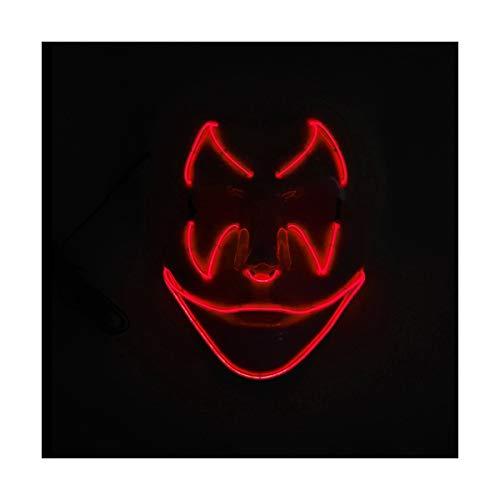 YOIO LED-Maske Fledermaus-Smiley-Geburtstagsfeier-Partei EL Kaltlicht-glühende Maske, rot
