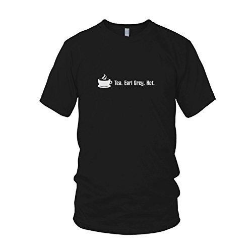 Tea. Earl Grey. Hot. - Herren T-Shirt Schwarz