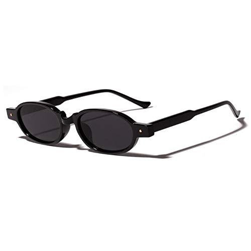 Sport-Sonnenbrillen, Vintage Sonnenbrillen, Leopard Retro Rivet Sunglasses Women Small Frame Ultra Light NEW Summer Fashion Oval Sun Glasses Male Unisex Gift as show in photo full black