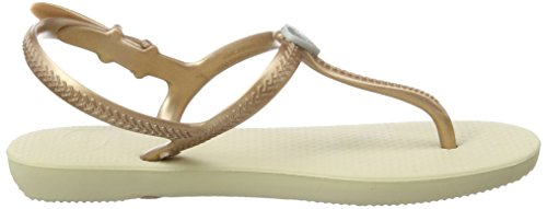 Havaianas Freedom, Sandales Plateforme Fille Beige (sand Grey/rose Gold/silver 8627)