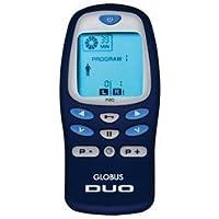 Globus DUO PRO elettrostimolatore 2 canali 35 prog. 180 applicazioni Sport Fitness Bellezza Salute