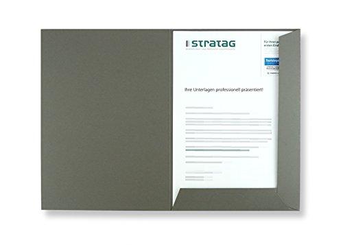 Präsentationsmappe A4 in Steingrau 10 Stück (wählbar) - erhältlich in 7 Farben - direkt vom Hersteller STRATAG - vielseitig einsetzbar für Ihre Angebote, Exposés, Projekte oder Geschäftsberichte
