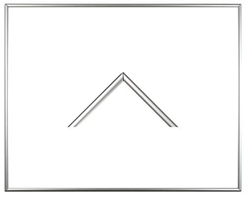 Iowa Kunststoff-Bilderrahmen 44x84 cm Posterrahmen 84x44 cm Farbwahl jetzt: Silber mit 1 mm Acryglas klar