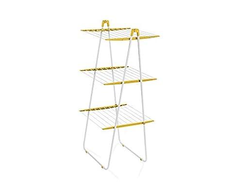 Leifheit 81446 Tour Tower 190 Séchoir à Linge Sunflower Yellow