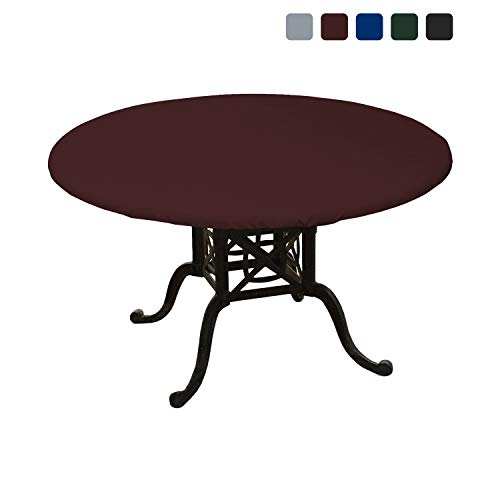 4in Heavy Duty Air (Round Table Top Cover 18 Oz - Customize Your Cover with Any Size - 100% UV & Weather Resistant Outdoor Table Cover with Air Pocket and Elastic for Snug Fit (54