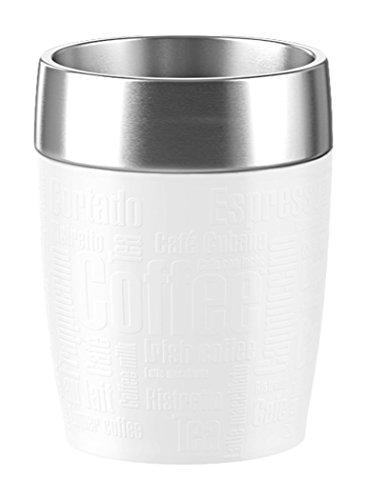 Emsa Isolierbecher, Edelstahl, Weiß, 28 x 28 x 18 cm - Serie Travel Mug