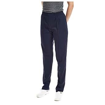 Pantaloni sanitario medico da laboratorio da lavoro (XS, Blu Marina)