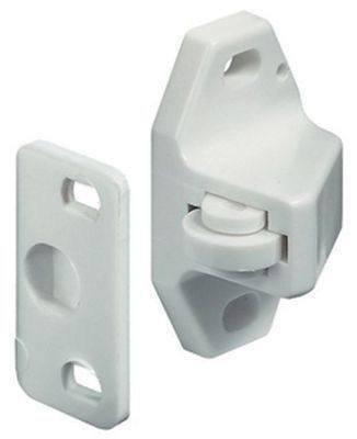 Preisvergleich Produktbild Rollenschnapper für Schranktür,  Kunststoff,  Weiß