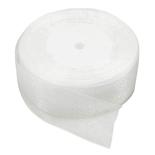 Healifty Transparent Chiffon Sheer Ribbon Rolle DIY Gaze Tutu Mesh Hochzeit Geschenkpapier 50 Yards -