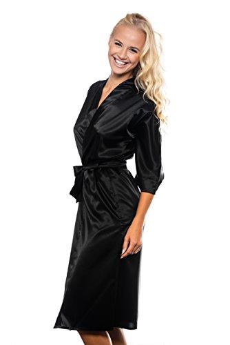 MICHELLE - Robe de Chambre - à partir de la collection de Sophie Bernard. Sentir à l'aise! Noir