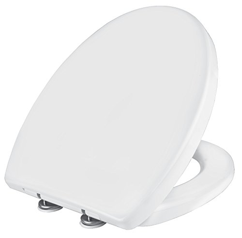 Cornat WC-Sitz LACUNA weiß/Toilettensitz / Toilettendeckel/Klodeckel / WC-Deckel/Absenkautomatik / Duroplast / KSLAC00