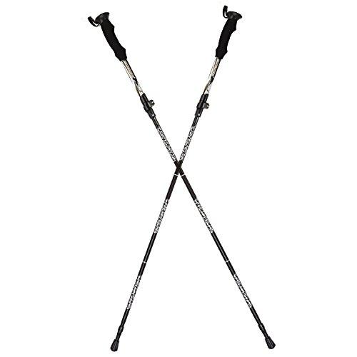 cojoie Paar Ultralight zusammenklappbar Trekking Pole, Reisen Wandern Pole, Wanderstöcke, Klettern Stick mit weichem Griff