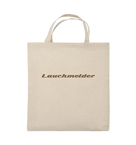 Comedy Bags - Lauchmelder - Jutebeutel - kurze Henkel - 38x42cm - Farbe: Schwarz / Silber Natural / Hellbraun