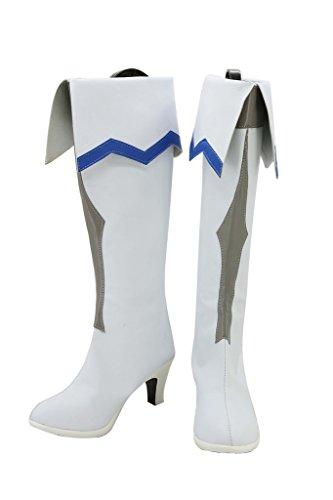 Von Yuuki Kostüm Asuna (Sword Art Online Asuna Stiefel Karneval Schuhe Asuna Cosplay Boots Damen Weiß)