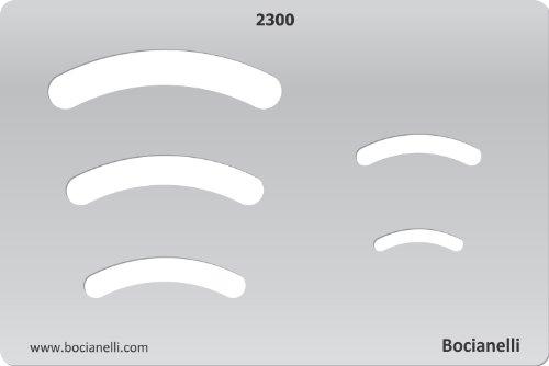 Bögen Machen (15cm x 10cm Zeichenschablone aus Transparentem Kunststoff für Grafik Design Kunst Handwerk Technisches Zeichnen Schmuckherstellung Schmuck Machen - Bogen)