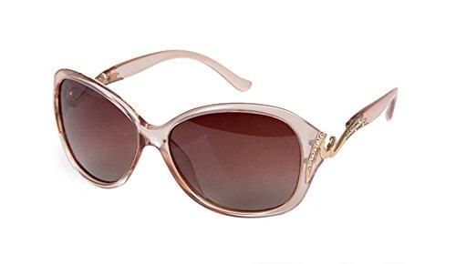 Da.Wa 1 Stück Polarisierte Sonnenbrille für Damen Sonnenschutz Outdoor Sports Verfügbare Sonnenbrille Champagner Farbe