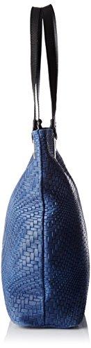 Chicca Borse Damen 80060 Shopper, 40 x 34 x 10 cm Blau (Blu)