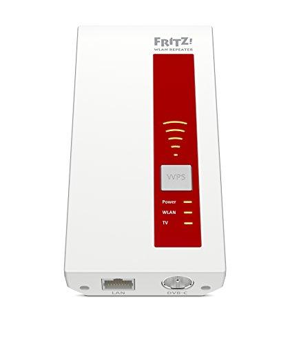 AVM FRITZ!WLAN Repeater DVB-C (Dual-Tuner für Kabel-TV (DVB-C), WLAN AC + N bis zu 1.300 MBit/s (5 GHz) + 450MBit/s (2,4 GHz)), geeignet für Deutschland - 2