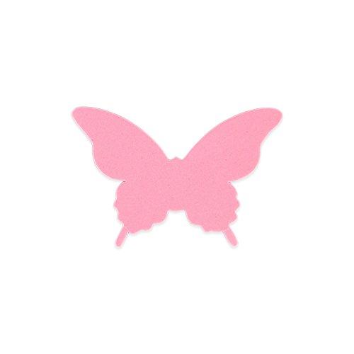 Elfenstall 3D Papier Schmetterling Aufkleber Wandsticker Wandtattoo Wanddeko für Wohnung, Raumdekoration, Hochzeit oder Party als Dekoration in der Farbe Rosa