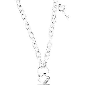 Guess Damen-Halskette Edelstahl rhodiniert 90 cm – UBN81067
